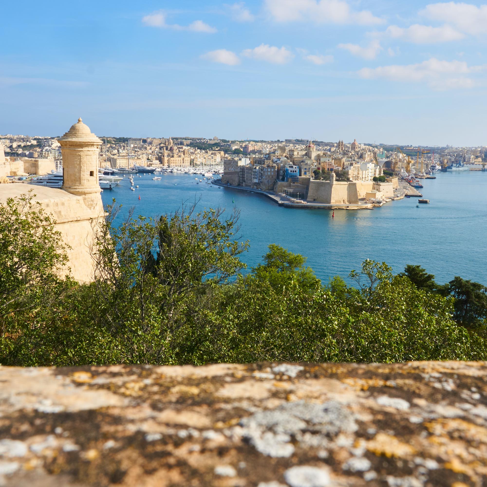 Der Mittelmeerhafen von Valletta