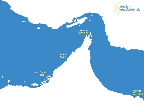 Karte TUI Cruises Orient