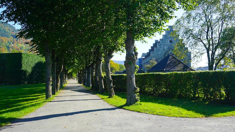 Die Festung Bergenhus in bergen