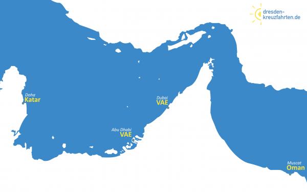 Karte Costa Diadema Orient
