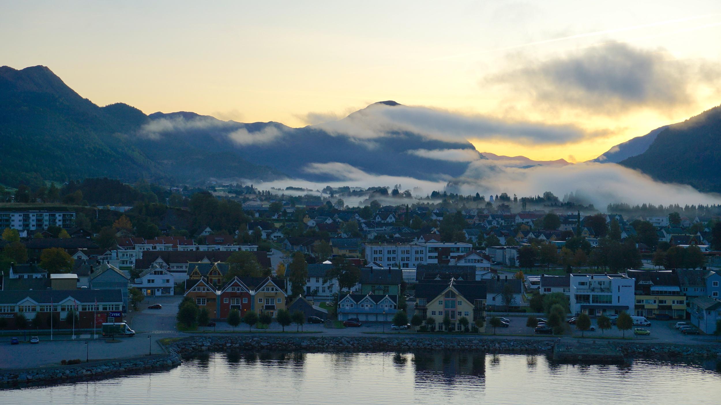 Blick auf Nordfjordeid