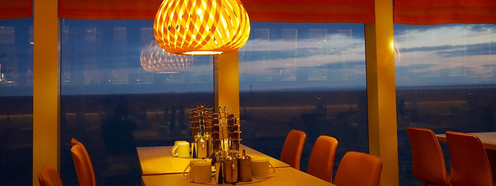 Ein Restaurant an Bord von AIDA